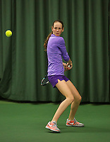 Rotterdam, The Netherlands, 15.03.2014. NOJK 14 and 18 years ,National Indoor Juniors Championships of 2014, Stephanie Visscher (NED)<br /> Photo:Tennisimages/Henk Koster