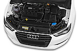 Car Stock 2015 Audi A3 Ambition 2 Door Convertible 2WD Engine high angle detail view