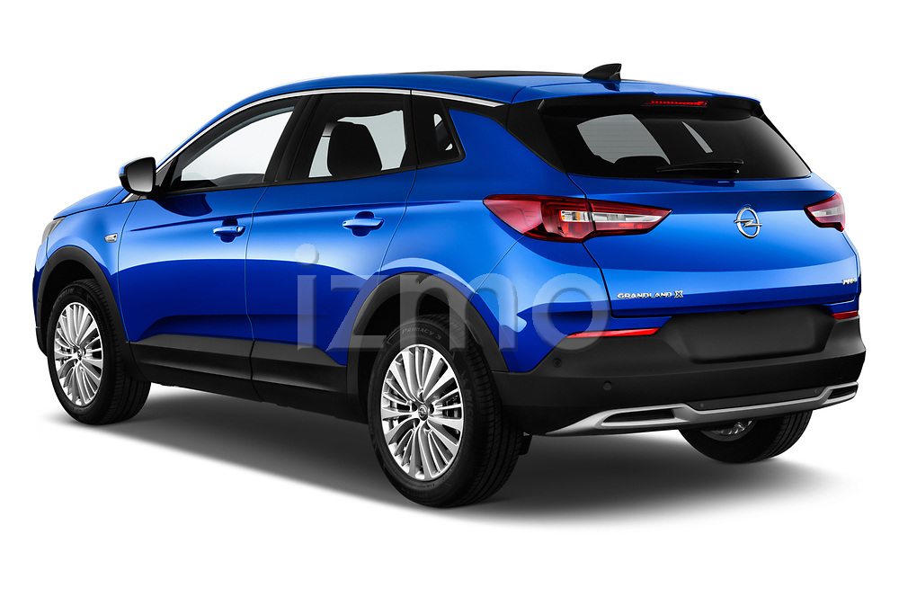 Car pictures of rear three quarter view of a 2018 Opel Grandland X Innovation 5 Door SUV angular rear