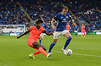 Huddersfield Town's Trevoh Chalobah whips the ball into the box<br /> <br /> Photographer Ian Cook/CameraSport<br /> <br /> The EFL Sky Bet Championship - Cardiff City v Huddersfield Town - Wednesday August 21st 2019 - Cardiff City Stadium - Cardiff<br /> <br /> World Copyright © 2019 CameraSport. All rights reserved. 43 Linden Ave. Countesthorpe. Leicester. England. LE8 5PG - Tel: +44 (0) 116 277 4147 - admin@camerasport.com - www.camerasport.com