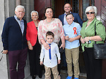 Max Wilson from LeCheile school who was confirmed in St Mary's church pictured with his famliy. Photo:Colin Bell/pressphotos.ie