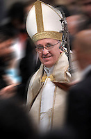 Pope Francis welcomes Catechumens in Saint Peter's Basilica  in the Vatican, 23 November 2013.