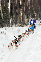 Aaron Peck w/Iditarider on Trail 2005 Iditarod Ceremonial Start near Campbell Airstrip Alaska SC