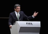 Fussball International Ausserordentlicher FIFA Kongress 2016 im Hallenstadion in Zuerich 26.02.2016 FIFA Praesidenten Kandidat Jerome Champagne (Frankreich)