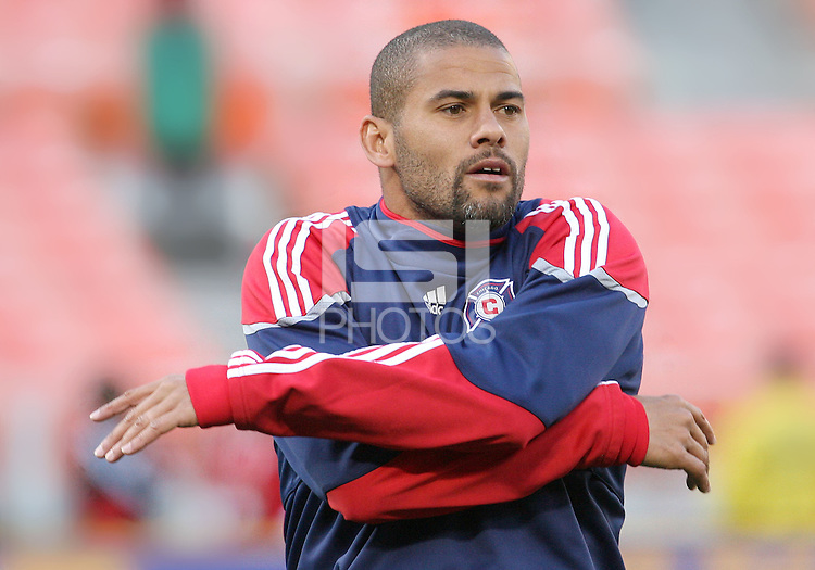 C.J. Brown #2 of the Chicago Fire during an MLS match against D.C. United on April 17 2010, at RFK Stadium in Washington D.C. Fire won 2-0.