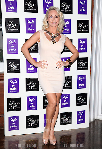 Kristina Rihanoff arriving for the Style for Stroke Party, 5 Cavendish Square, London. 02/10/2012 Picture by: Alexandra Glen / Featureflash