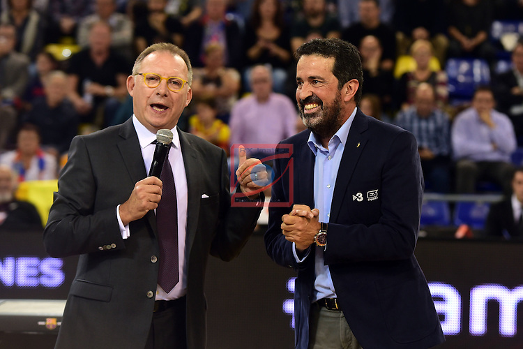 Turkish Airlines Euroleague 2016/2017.<br /> Regular Season - Round 2.<br /> FC Barcelona Lassa vs Fenerbahce Istanbul: 72-73.<br /> Toni Bove &amp; Jordi Robirosa.