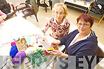 GETTING CRAFTY:  Participants in the Textiles, Handspinning and Weaving class in the Listowel Family Resource Centre held an open day on Friday to show off their work. Pictured from l-r were: Anna Lavery and Priscilla Sweeney (Tutor).