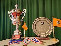August 22, 2014, Netherlands, Amstelveen, De Kegel, National Veterans Championships, Trophy's<br /> Photo: Tennisimages/Henk Koster
