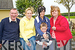 EARLY RISERS: early risers at the Fleadh Cheoil, Chairarrai on Sunday morning. L-r: James Fitzgerald, Judy Diggin, Kevin and Lisa Kelly and Mary Power (Causeway).......