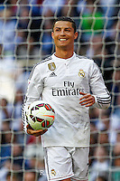 Real Madrid´s Portuguese forward Cristiano Ronaldo celebrating