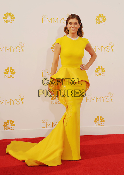 LOS ANGELES, CA- AUGUST 25: Actress Kate Walsh arrives at the 66th Annual Primetime Emmy Awards at Nokia Theatre L.A. Live on August 25, 2014 in Los Angeles, California.<br /> CAP/ROT/TM<br /> &copy;Tony Michaels/Roth Stock/Capital Pictures