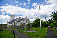 A general View of St Mary's Church in Pennard, Swansea, Wales, UK. Monday 10 June 2019