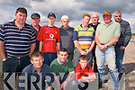 FURY: Angry fishermen who have been banned from fishing in Castlemaine Harbour at Cromane strand on Monday evening, front l-r: Mike Scannell, John Teahan, James Teahan. Back l-r: Patrick O'Connor, Denis Teahan, Liam Teahan, Donie McCarthy, Willie Casey, Monty Neill, Patrick Teahan, Gerard Reilly.   Copyright Kerry's Eye 2008