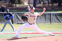 ELON, NC - MARCH 1: Dean McCarthy #26 of Elon University throws a pitch during a game between Indiana State and Elon at Walter C. Latham Park on March 1, 2020 in Elon, North Carolina.