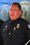 Phoenix PD Sergenat Tommy Thompson (Public Affairs Bureau) Speaking at the fourth annual Stop Random Gunfire Press Conference in Phoenix, AZ, on this Wednesday, December 29, 2010. .Photo by AJ Alexander/AJAimages