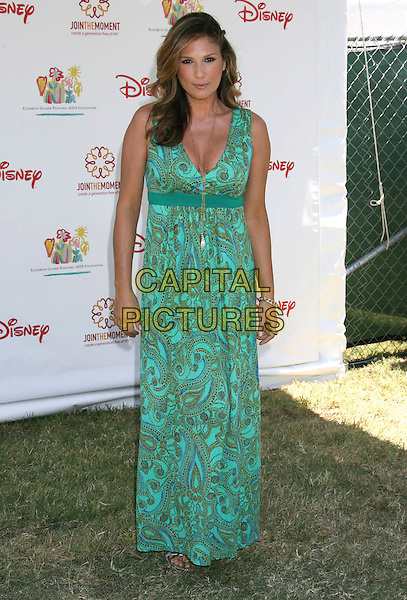 DAISY FUENTES .Elizabeth Glaser Pediatric AIDS Foundation 20th Annual A Time For Heroes Celebrity Carnival held at Wadsworth Theater, Los Angeles, CA, USA, 6th June, 2009..full length long maxi dress green print turquoise .CAP/ADM/MJ.©Michael Jade/Admedia/Capital Pictures