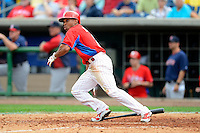 Philadelphia Phillies outfielder Ben Revere #2 during a Spring Training game against the Boston Red Sox at Bright House Field on March 24, 2013 in Clearwater, Florida.  Boston defeated Philadelphia 7-6.  (Mike Janes/Four Seam Images)