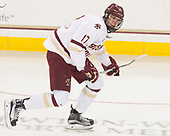 David Cotton (BC - 17) - The visiting University of Vermont Catamounts tied the Boston College Eagles 2-2 on Saturday, February 18, 2017, Boston College's senior night at Kelley Rink in Conte Forum in Chestnut Hill, Massachusetts.Vermont and BC tied 2-2 on Saturday, February 18, 2017, Boston College's senior night at Kelley Rink in Conte Forum in Chestnut Hill, Massachusetts.