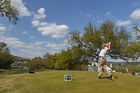 Chez Reavie (USA) watches his tee shot on 12 during day 2 of the World Golf Championships, Dell Match Play, Austin Country Club, Austin, Texas. 3/22/2018.<br /> Picture: Golffile | Ken Murray<br /> <br /> <br /> All photo usage must carry mandatory copyright credit (&copy; Golffile | Ken Murray)