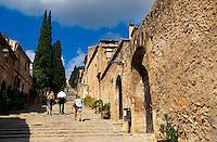 Spanien, Mallorca, Kreuzweg zur Kirche El Calvari in Pollenca