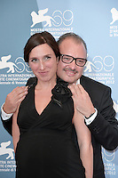 VENICE, ITALY - AUGUST 30: Actress Anne Paulicevich and director Frederic Fonteyne attend the 'Tango Libre' photocall during the 69th Venice Film Festival at the Palazzo del Casino on August 30, 2012 in Venice, Italy. AFG / Mediapunchinc /NortePhoto.com<br />