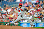 3 July 2009: Atlanta Braves starting pitcher Kenshin Kawakami in action against the Washington Nationals at Nationals Park in Washington, DC. The Braves defeated the Nationals 9-8 to take the first game of the 3-game weekend series. Mandatory Credit: Ed Wolfstein Photo