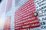 Today marked the 4th anniversary of the September 11th attacks on the World Trade Center in New York and the Pentagon in Washington DC. Thousands turned out at the Ground Zero site in New York to remember those killed in the attacks. The wall listing all the names of those killed in the attacks.