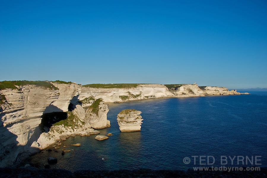 Cliffs and coastline near Bonifacio, Corsica