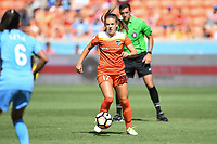 Houston, TX - Saturday May 13, 2017: Houston Dash midfielder Andressa Cavalari Machry (17) during a regular season National Women's Soccer League (NWSL) match between the Houston Dash and Sky Blue FC at BBVA Compass Stadium. Sky Blue won the game 3-1.