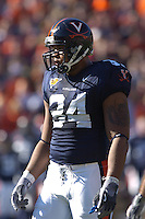 19 November 2005: Ahmad Brooks (34)..The Virginia Tech Hokies defeated the Virginia Cavaliers 52-14 for the Commonwealth Cup at Scott Stadium in Charlottesville, VA.