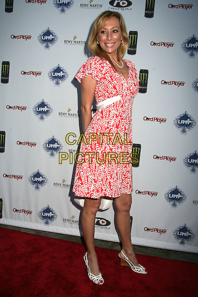 """MELISSA """"MOJO"""" HUNTER.2nd Annual Celebrity Poker Tournament Benefiting The Urban Health Institute at the Playboy Mansion, Holmby Hills, California, USA..April 28th, 2007.full length red white pattern dress shoes .CAP/ADM/BP.©Byron Purvis/AdMedia/Capital Pictures"""