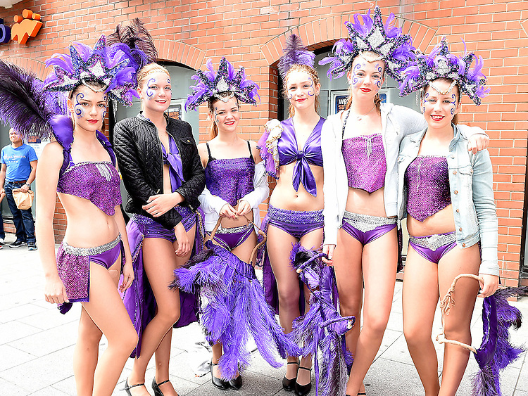 Members of samba St. Olof from Sweeden who took part in the Drogheda Samba Festival.  Photo:Colin Bell/pressphotos.ie