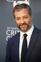 Judd Apatow attends the 23rd Annual Critics' Choice Awards at Barker Hangar in Santa Monica, Los Angeles, USA, on 11 January 2018. Photo: Hubert Boesl - NO WIRE SERVICE - Photo: Hubert Boesl/dpa /MediaPunch ***FOR USA ONLY***