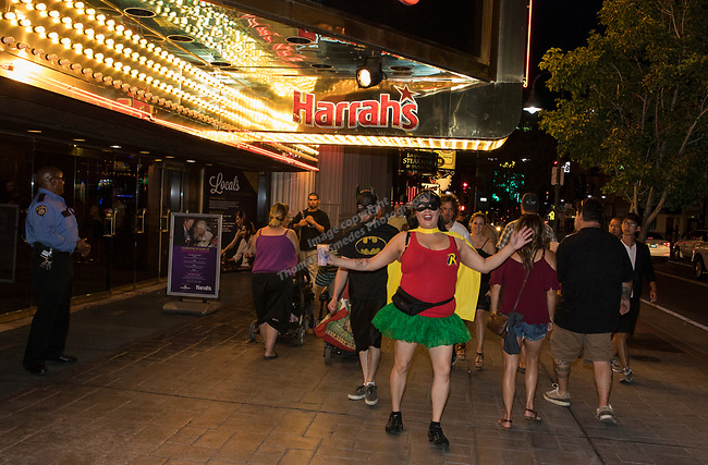 A photograph taken during the Super Hero Crawl in Reno on Saturday, July 15 2017.