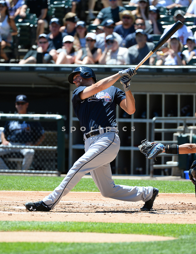Atlanta Braves Jeff Francoeur (18) during a game against the Chicago White Sox on July 9, 2016 at US Cellular Field in Chicago, IL. The White Sox beat the Braves 5-4.