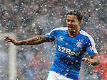 James Tavernier covered in snow