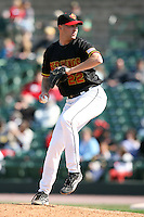 April 26, 2009:  Relief Pitcher Bobby Keppel (22) of the Rochester Red Wings, International League Class-AAA affiliate of the Minnesota Twins, during a game at the Frontier Field in Rochester, NY.  Photo by:  Mike Janes/Four Seam Images