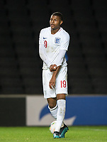 Rhian Brewster (Liverpool) of England U21 during the UEFA Euro U21 International qualifier match between England U21 and Austria U21 at Stadium MK, Milton Keynes, England on 15 October 2019. Photo by Andy Rowland.