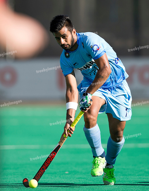 01/07/2015<br /> HWL Semi Final Antwerp Belgium 2015<br /> India v Malaysia Men<br /> Manpreet Singh<br /> Photo: Grant Treeby