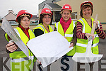 WOMEN AT WORK: Checking out plans for the Tir na nOg Community Childcare Centre in Ballybunion which commenced construction work at the Ballybunion Community Centre this week. L/r Patsy Gleeson, Kerry Beauseigneur, Grainne Twomey and Debbie Hannon.