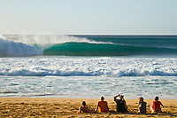 Line Up at Pipeline. Pipeline, Haleiwa Hawaii,(Monday November 15, 2010) .A West swell came up during the day on Sunday and continued to pump today. Waves were in the 12' plus range with some Second Reef Pipeline waves. Pipeline and Sunset were the two spots. ..Photo: joliphotos.com
