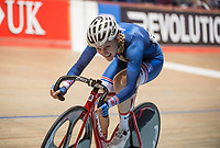 Picture by Allan McKenzie/SWpix.com - 06/01/2018 - Track Cycling - Revolution Champion Series 2017 - Round 3 - National Cycling Centre, Manchester, England - Team Inspired's Megan Barker races in the Elite Championship Madison Time Trial.