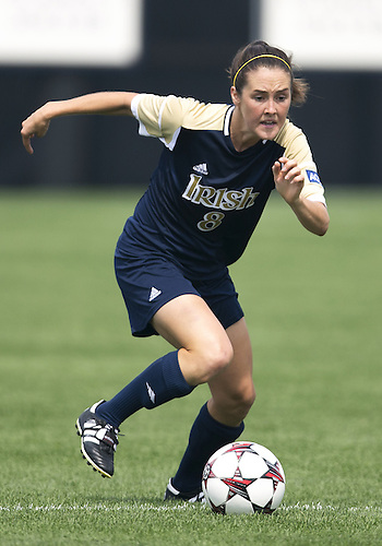 September 01, 2013:  Notre Dame midfielder Elizabeth Tucker (8) during NCAA Soccer match between the Notre Dame Fighting Irish and the UCLA Bruins at Alumni Stadium in South Bend, Indiana.  UCLA defeated Notre Dame 1-0.