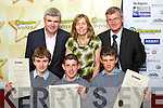 AWARDS: CBS The Green students at the Young Entrepreneur Programme Awards Ceremony held in the Malton Hotel, on Friday front l-r: Robert Delaney, Hayden Fitzgerald and Daniel O'Mahony, Back l-r: Padraig O Ceidigh, Nora Scanlon and Tony O'Keeffe.   Copyright Kerry's Eye 2008