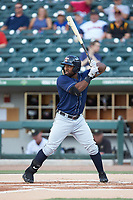 Christin Stewart (20) of the Toledo Mud Hens at bat against the Charlotte Knights at BB&T BallPark on June 22, 2018 in Charlotte, North Carolina. The Mud Hens defeated the Knights 4-0.  (Brian Westerholt/Four Seam Images)