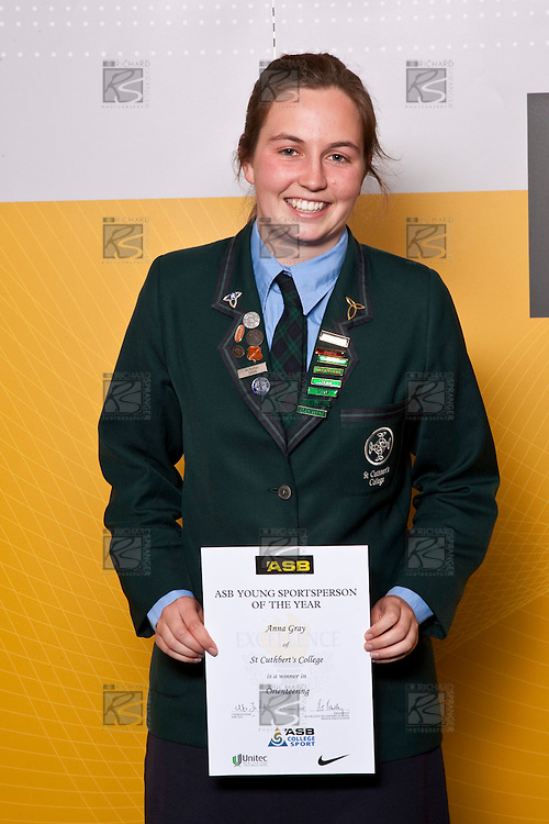 Girls Orienteering winner Anna Gray from St Cuthbert's College. ASB College Sport Auckland Secondary School Young Sports Person of the Year Awards held at Eden Park on Thursday 12th of September 2009.