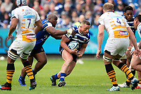 Max Lahiff of Bath Rugby takes on the Wasps defence. Gallagher Premiership match, between Bath Rugby and Wasps on May 5, 2019 at the Recreation Ground in Bath, England. Photo by: Patrick Khachfe / Onside Images