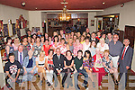 Pat  Enright of Brendan's Park Tralee had a surprise birthday party put on by her friends andd family in John Mitchels GAA Club, Tralee on Sunday night. (Pat is seated 5th from right).