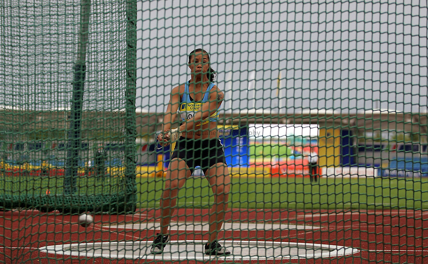 Photo: Paul Thomas/Richard Lane Photography..Norwich Union World Trials and AAA Championships. 28/07/2007...Joanne John during the women's hammer throw.